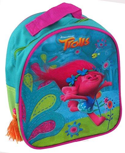 Unbekannt DreamWorks Trolls Poppy Rucksack Kindergarten Tasche blau/grün