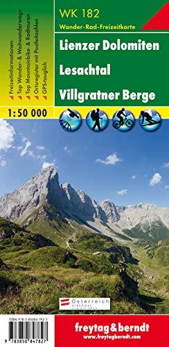 Freytag Berndt Wanderkarten, WK 182, Lienzer Dolomiten - Lesachtal - Villgranter Berge - Maßstab 1:50 000 (freytag & berndt Wander-Rad-Freizeitkarten)