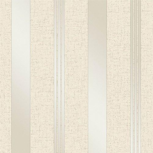 Fine Décor FD41972 - Papel pintado para pared, diseño de rayas, color dorado
