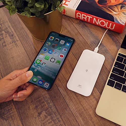 シリコンパワーワイヤレス充電器QI認証急速充電loQI210ホワイト薄型iPhone11/11Pro/11ProMax/XS/XSMax/XR/X/8/8PlusSamsungGalaxyLG対応5W&7.5W&10W出力高速充電ワイヤレスチャージャーSP10WASYQI210B1W