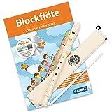 CASCHA Blockflöten Set, Flöte aus Kunststoff zum Lernen für Kinder und Anfänger mit Buch, Deutsche Griffweise