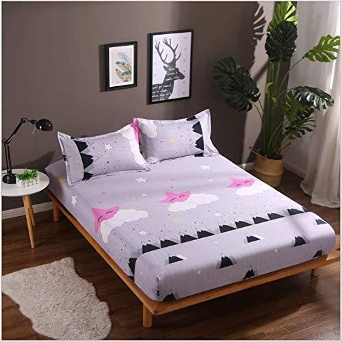BBCS Aloe katoenen beddengoed beschermend overtrek voor matras, eenvoudig, dubbel, Europa kussensloop, 1,5 m, 1,8 m, 48 x 74 cm, 2 I