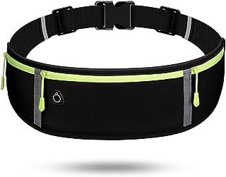 Running Belt, Fanny Pack for Women Men, Water Resistant Waist Pack, Runners Belt for Hiking Fitness Travel - Adjustable Ru...