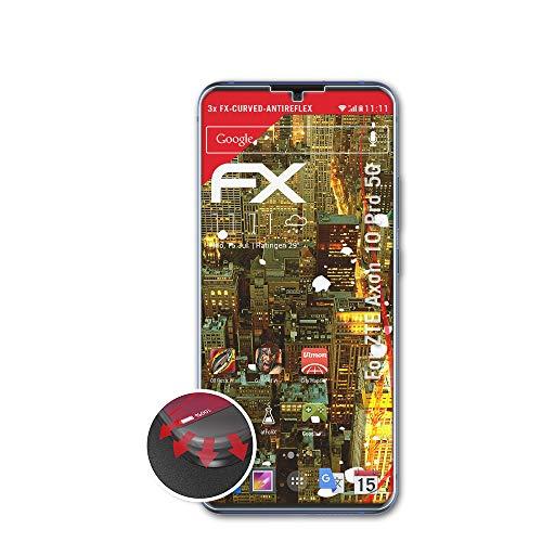 atFolix Schutzfolie kompatibel mit ZTE Axon 10 Pro 5G Folie, entspiegelnde & Flexible FX Bildschirmschutzfolie (3X)
