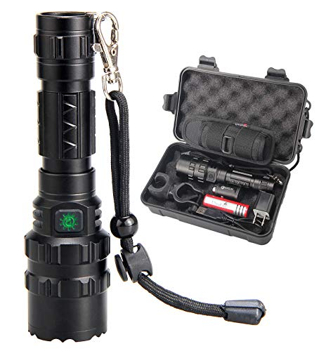 UltraFire High Lumens Rechargeable Flashlight with Holster, UFB26 Li-ion 3.7v Battery and Car Charger Included -1000 Lumens, IPX 65 Water-resistant LED Torch Light for Emergency