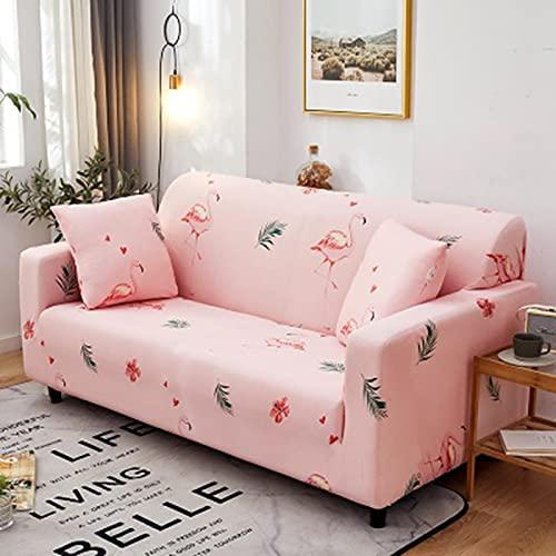 Elastiskt sofföverdrag stretch tecknat sofföverdrag för soffa stolskydd fåtölj anti-damm möbelskydd A12 2-sits