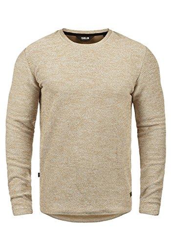 !Solid Gulliver Herren Sweatshirt Pullover Pulli Mit Rundhalsausschnitt Aus 100% Baumwolle, Größe:L, Farbe:Off White Melange (8104)