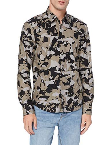 HUGO Mens Ermo Shirt, Light/Pastel Brown (238), XXL