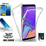 COPHONE® Coque Compatible Samsung Galaxy A9 2018 Transparente 360 degrès en Gel Protection...