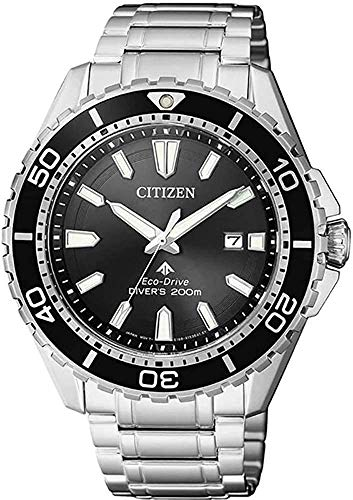 CITIZEN Herren Analog Solar Uhr mit Edelstahl Armband BN0190-82E