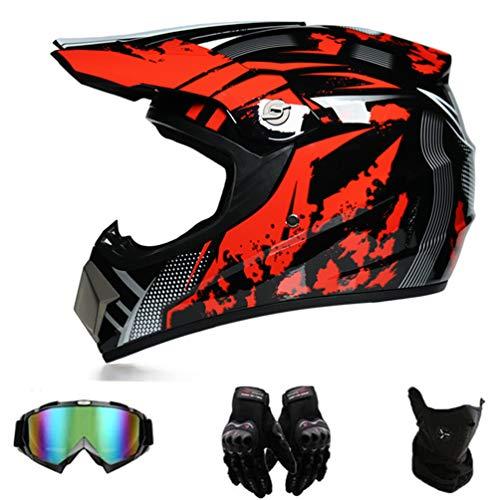 puissant EA-SDN Casque de moto Cross Helmet Casque de sécurité Casque de motocross (XL)