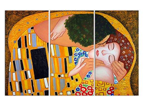 World Art, TWKL038TVAT-01, Bacio dettaglio, Dipinti olio su tela Falsi d'autore, 120 x 80 x 2 Cm