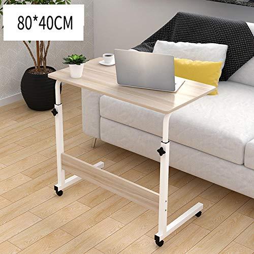Anwasd7 portátil de la Mesa de Altura Regulable de sofá de la Mesa de Mesa Auxiliar de Juego de Frenos para portátil con Soporte para Color de Madera Los 40x80cm
