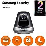 Wisenet SmartCam Full HD 1080p Inclinación/Giratorio Cámara de vigilancia doméstica Negro