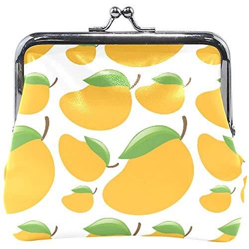 Portefeuille Tropical Fruit verse mango's gele munt portemonnee zak leder wisselhouder kaart clutch handtas