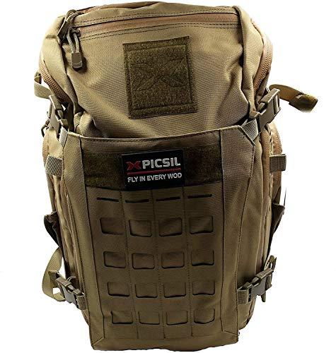 PicSil Mochila Táctica Impermeable 40L Gran Capacidad Nylon 600D Sist