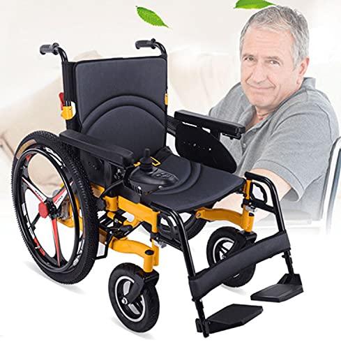 ASEDF 2021 Sedia a rotelle elettrica Veicolo a Quattro Ruote Scooter Anziano per Anziani Leggero Elder Handicappato Intelligente Automatico Sedia a rotelle Automatica 24in Big Tire