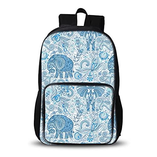 3D Mochila para niños 3D Elefante Compacto y Mochila Ligera Adecuado Para Niños Escolares Y Niñas Bolso Escuela Luz Al Aire Luz Embotella Bolsa de Senderismo Alta Capacidad Daypack Portátil Escuela Po