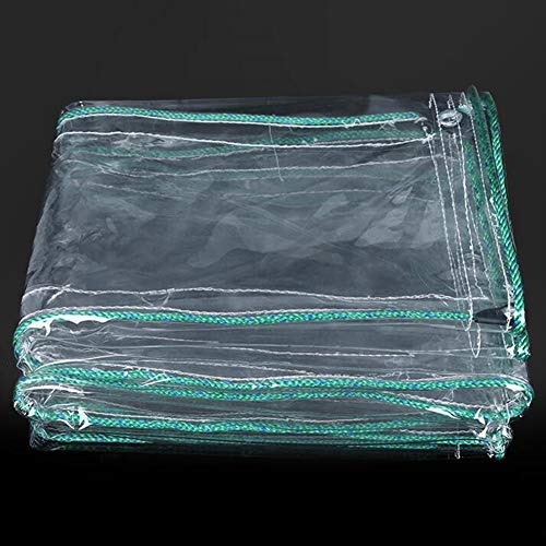Lonas Impermeables Transparentes,Lona De PVC Resistente,Paño De Lluvia Resistente Al Desgarro Con Ojales,para La Cubierta De La Planta Que Acampa Del Dosel Del Jardín De La (Color:T1,Size:1.8 × 3.5 m)