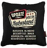 RAHMENLOS Kissenhülle 40x40cm als Geschenk für Rentner im Ruhestand - für Dekokissen Zierkissen...