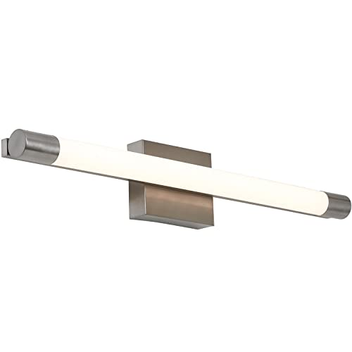 NEW Slim Line Modern Frosted Bathroom Vanity Light Fixture | Contemporary  Sleek Dimmable LED Cylinder Bar