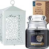 YANKEE CANDLE ジャーM スクロールキャンドルウォーマーセット(ホワイト) 「 ミッドサマーズナイト 」 K5141011