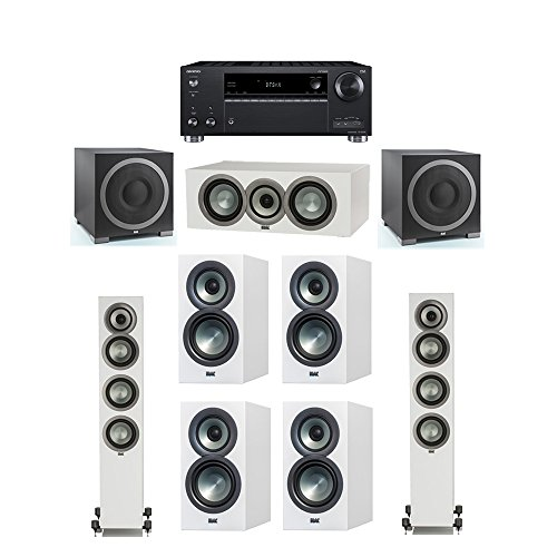 Purchase ELAC Uni-Fi Slim White 7.2 System with 2 ELAC FS-U5 Floorstanding Speakers, 1 CC-U5 Center ...