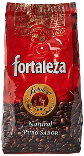 Café Fortaleza - Café en Grano Natural, Puro Sabor, de Variedades Arábicas, Intensidad Media, Aroma Herbal y Afrutado, Ideal para Cafeteras Espresso, Pack 3x500g