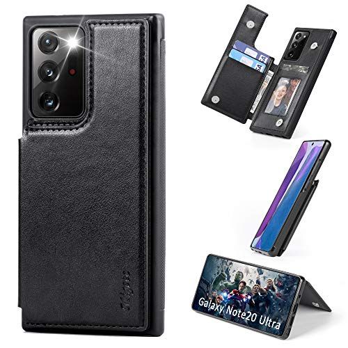 Migeec Samsung Galaxy Note 20 Ultra 5g Case with Card Holder - Wallet Case [Shockproof] with PU Leather Card Pockets Flip Cover for Samsung Galaxy Note 20 Ultra, Black