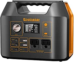 EnginStar Portable Power Station, 300Watt Portable Power Bank with AC Outlet for Outdoors Camping Travel Hunting Emergency Use, 80000mAh Power Supply for CPAP Machine