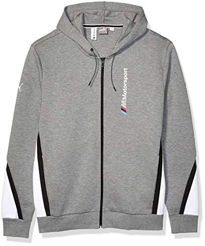 PUMA Herren BMW Motorsport Hooded Sweat Jacket Kapuzenpulli, Mittelgraues Heather, X-Large