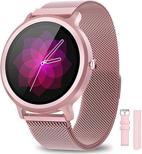 NAIXUES Smartwatch Mujer Reloj Inteligente IP68 con 24 Modos de Deporte, Pulsómetro, Monitor de Sueño, Notificaciones Inteligentes, 1.28 Inch Pantalla Táctil Completo Smartwatch