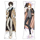 NiyoKE Chuya Nakahara Osamu Dazai Bungo Stray Dogs Anime Body Pillowcase 59 x 19.6in Natural Velvet Hugging Fans Gift Throw Pillow Cover
