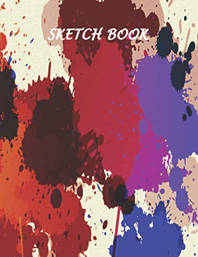 Sketch Book: 120 Blank Pages With a Good Quality, Notebook for Drawing, Sketching and Doodling, 8.5'x11', With (Colorful Background Splash Effect Cover)