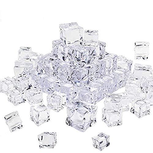 Cubetti di ghiaccio artificiali in acrilico cubetti di ghiaccio decorativi cubetti di ghiaccio in acrilico forma quadrata in vetro plastica acrilico per fotografie e decorazioni