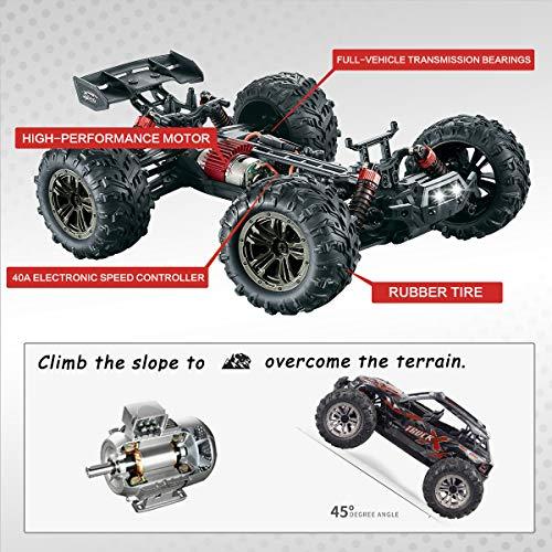 RC Auto kaufen Truggy Bild 6: Hosim Ferngesteuertes Auto 1:16, RC Offroad Car 4WD 36 km/h, Elektronischen Spielzeugauto für Kinder Und Erwachsen (Modellnummer: 9137, Rot)*