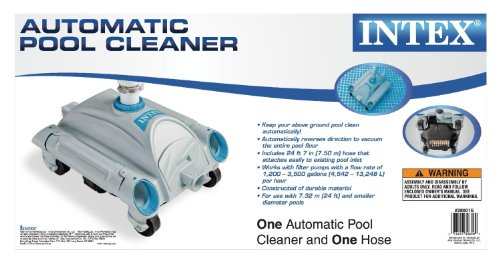LEGNAGOFERR - Intex 28001 Auto- Pool-Reinigungsroboter kleiner Roboter für die Reinigung von oberirdischen Pools Schlauch 7,5 m Kollektion Intex Store
