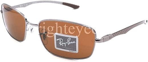 Ray Ban Tech RB 8308 Gunmetal Carbon Fiber Frame Brown Lens Sunglasses