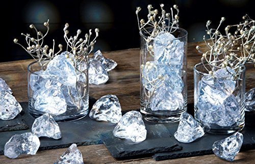 Acryl Streudeko Ice Rocks. Kunststoff Deko-EIS-Steine. Kunst Eiswürfel, EIS ca 50mm. 1 Liter.