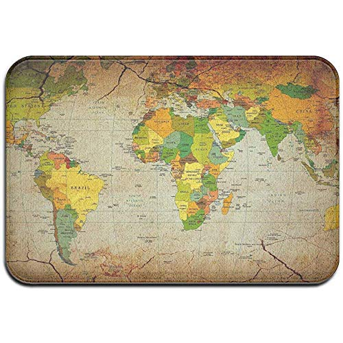DaiMex Old World Map Outdoor mat huisdeurmatten ingangstapijt standaard tapijt