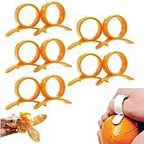 BESTONZON - 10 piezas duraderas en forma de anillo de plástico naranja...