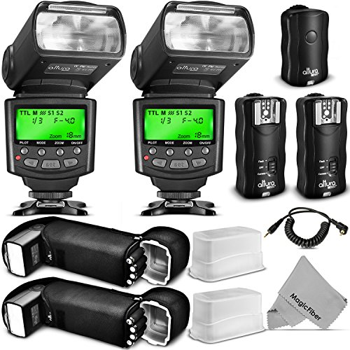 Altura Photo Studio Pro Flash Kit for Canon DSLR Bundle with 2pcs E-TTL Flash AP-C1001, Dual...