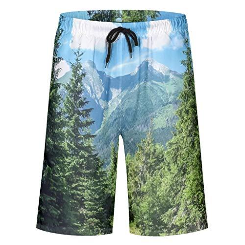 STELULI Pantalones cortos para hombre con estilo bosque, transpirables, con 2 bolsillos laterales