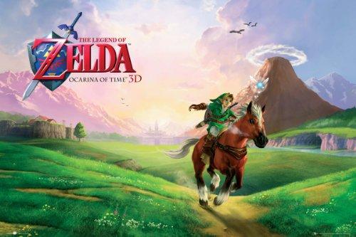 Nintendo Poster la Légende de Zelda Ocarina of Time (91,5cm x 61cm)