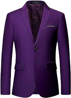 Men Fashion Slim Fit Dress Suit Notched Lapel Slim Fit Blazer Dress Suit
