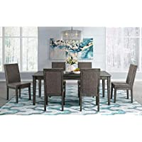 7-Piece Society Den Austin Dining Table & Six Chairs Set