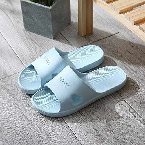 HOUSEHOLD Indoor Hausschuhe, Memory Foam Waschbar Cotton Non Sommer leichte Eva-Kunststoff Heim Sandalen und Pantoffeln Weiblich Innen Rutschhemmende Badezimmer Slippers (Color : B, Size : XXXXL)