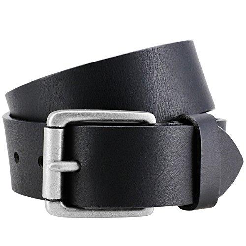 Lindenmann Ceinture de cuir hommes/ceinture hommes, noir, 40 mm, 9021, Größe/Size:100
