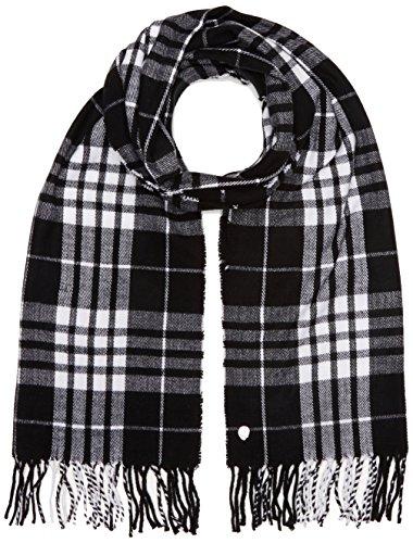 Goedkope Maandag Unisex City Sjaal Check Geruite Sjaal, Multi kleuren (Zwart/Wit), Een maat