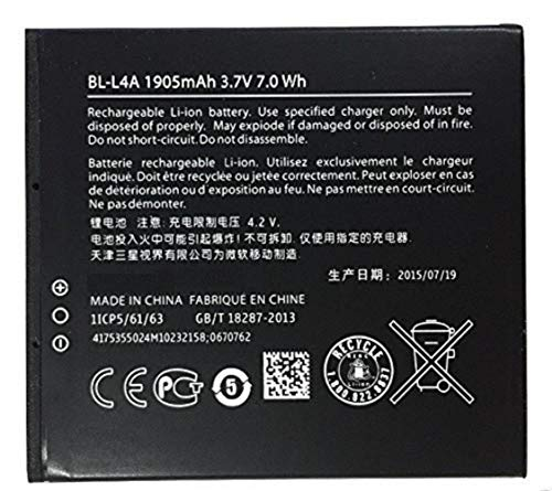 Welcozon BL-L4A 1905 Mah Battery for Microsoft Nokia Lumia 535 and 830 with 100 Days Warranty